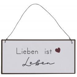"""Metallschild """"Lieben ist..."""