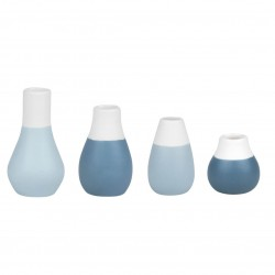 Mini Pastellvasen 4er Set blau