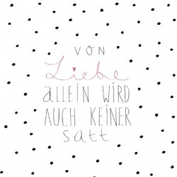 """Servietten """"von Liebe..."""